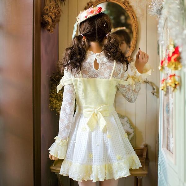 เจ้าหญิงsweetโลลิต้าdress candy rainลูกไม้สดขนาดเล็กdressหญิงญี่ปุ่นsweetบางเจ้าหญิงปกdress c22ab7006-ใน ชุดเดรส จาก เสื้อผ้าสตรี บน   3