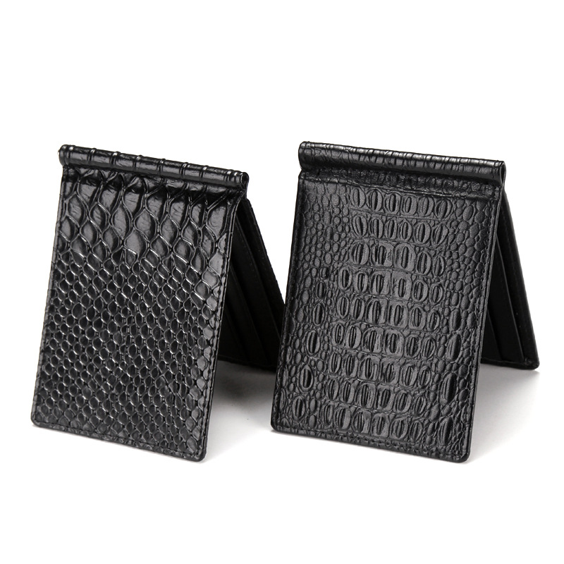 New Korean version of the ultra-thin gold folder wallet crocodile pattern snake  fashion mini card package creative wallet the construction of taj mahal tourism 3d cubic life manual paper card card creative stereo