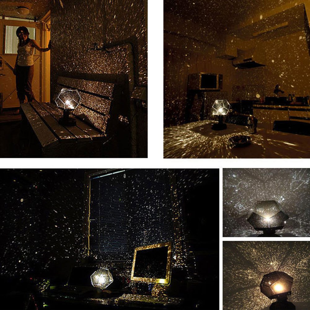 New Romantic Stars Projector Starry Sky LED Night Light Projectors Luminaria Moon Table Lighting Planetarium Desk Lamps