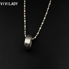 VIVILADY Newest Fashion Cross Round Pendant Necklace Men Women Stainless Steel Chain Jewelry Gift(China)