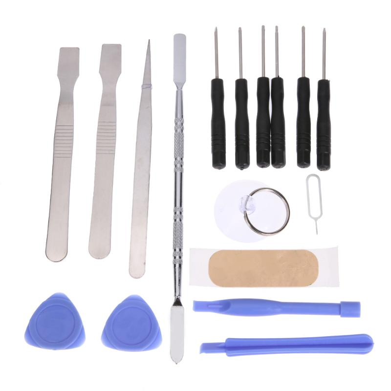 17 In 1 Mobile Repair Fix Opening Tool Kit Set Pry Screwdriver Mobile Phone Repair Tool Set for iPhone Tablet High Quality hot sale screwdriver set repair tools mobile phone repairing opening tool for iphone laptop tablet smartphone free shipping
