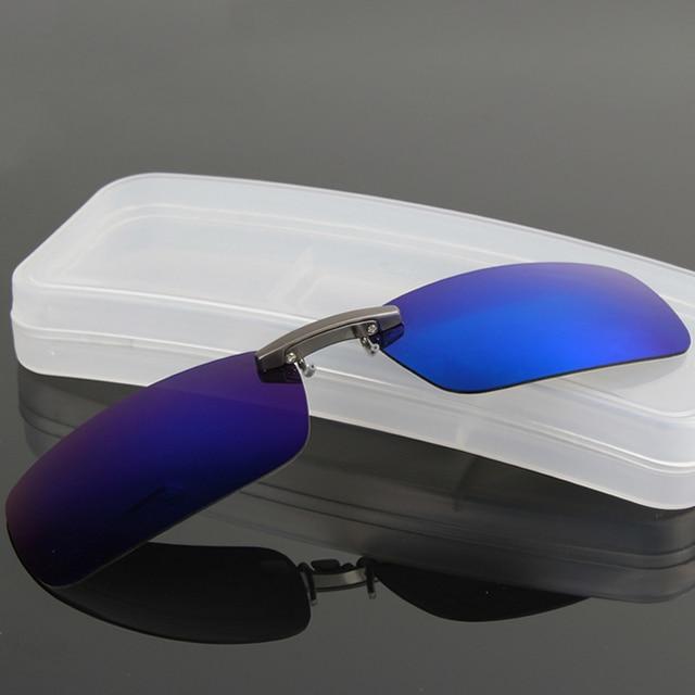 cb50894791f DRESSUUP Polarized Clip On Sunglasses Men Driving Night Vision Lens Sun  Glasses Male Anti-UVA UVB For Women   Man Oculos