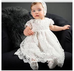 Niemowlę małe dziewczynki koronkowa suknia suknia do chrztu, nowonarodzone dziewczyny chrzest sukienka, dziewczynek sukienka na przyjęcie urodzinowe poniżej 2 lat