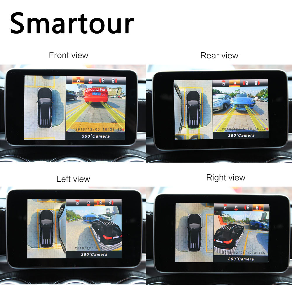 Image 3 - Smartour Car 3D 360  Surround View System Driving With Bird View Panorama System 4 Car Camera 1280P DVR G Sensor-in Car Multi-angle Camera from Automobiles & Motorcycles