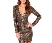 Fashion Sexy Women S Clothing Luxury Sequins Charming V Collar Dress XS S M L XL