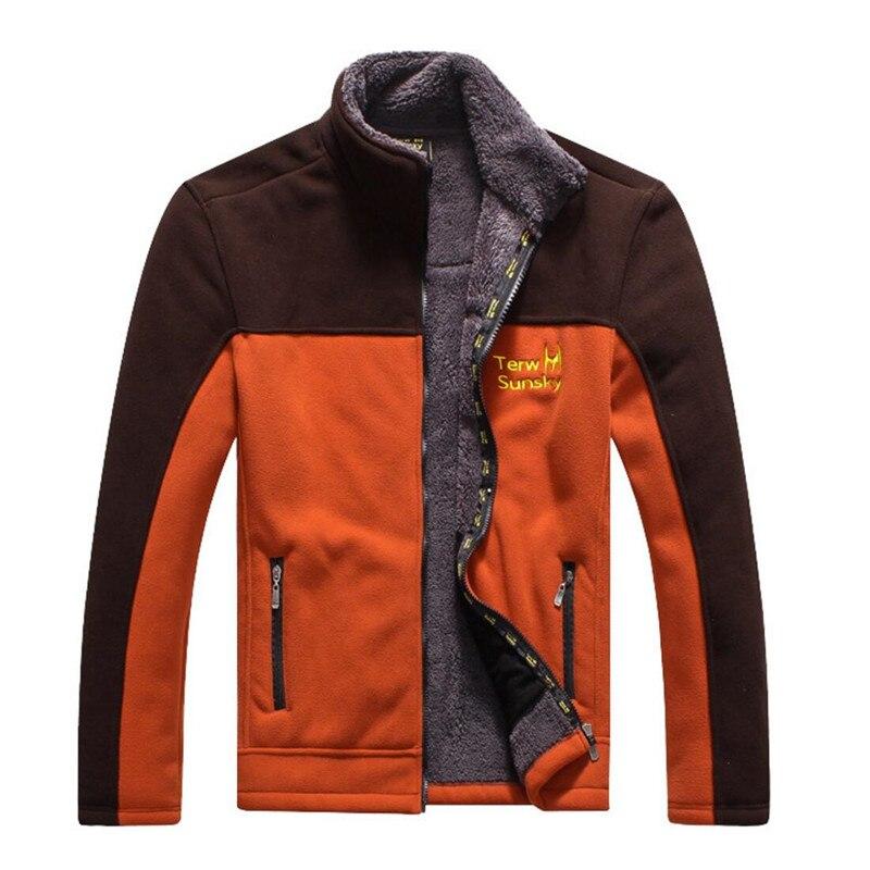 Ingyenes szállítás- forró eladás Férfiak Terwsunsky szabadtéri sűrítő meleg berber gyapjú szélálló kétrétegű felsőruházat-kabátokTR039