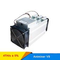Оригинальный Bitmain Antminer V9 4 T 1027 Вт с 1800 Вт Питание дешевые Bitcoin Asic шахтер горно V9 4TH/s Чип 135 BM1580 76dB Ethernet