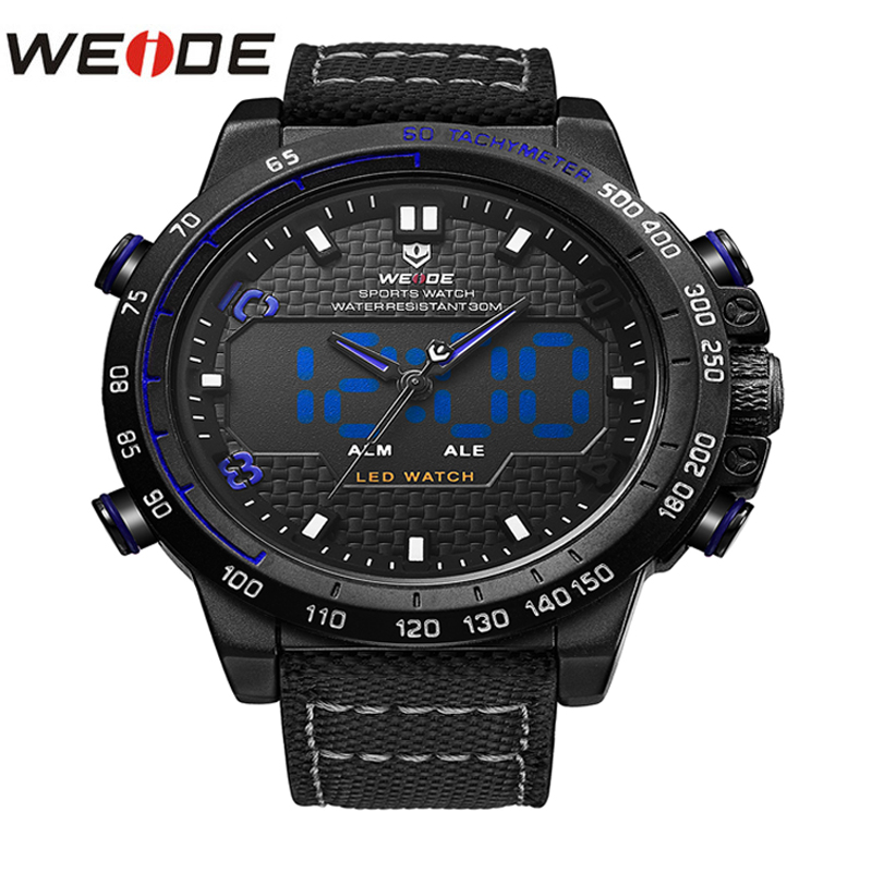 WEIDE New Quartz Watches Men Fashion Casual Top Brand Luxury Wrist Watches Clock Male Military Army Sports Nylon Clock Drop Ship weide top brand quartz sports watches men military army black waterproof automatic clock fashion big dial with gift box uv1503