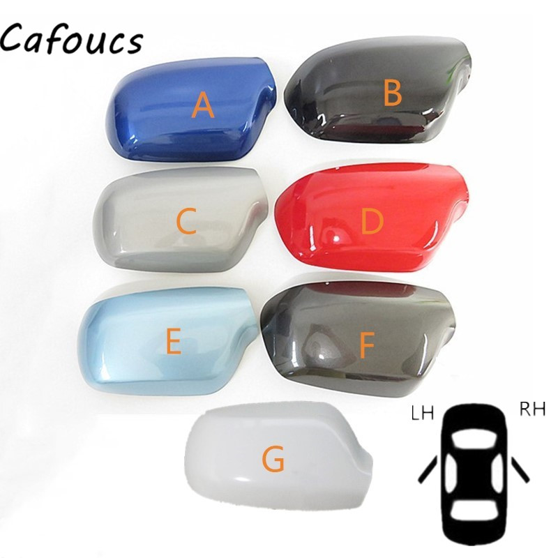 Cafoucs Car Styling Side <font><b>Mirror</b></font> Covers Caps Rearview <font><b>Mirror</b></font> Shell Housing For <font><b>Mazda</b></font> <font><b>3</b></font> M3 2003-2009 image