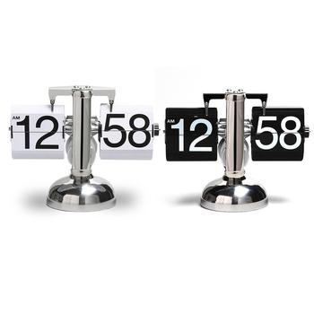 Auto Flip Table Clock Flip Page Digital Clocks Flip Over Down Clock Flap Desktop Watch 24 Hours Display Home Decor 40 trophy