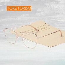 Toketorism квадратная оправа голубые легкие очки женские антирадиационные очки для коррекции зрения в оправе 0403