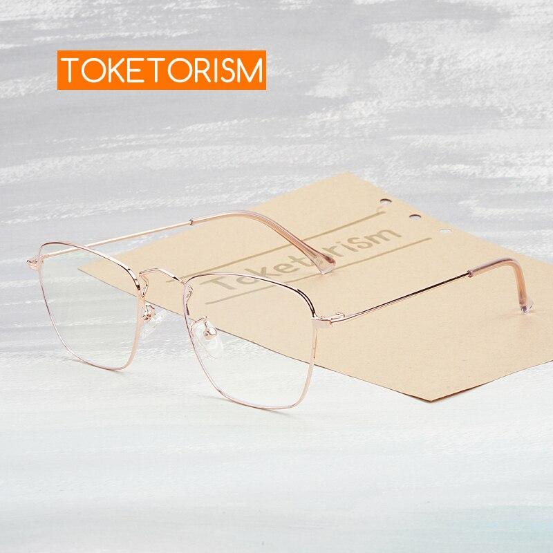 Toketorism Square Frame Blue Light Glasses Women Anti Radiation Eyeglasses Optical Frames 0403