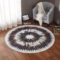 Скандинавский геометрический круглый ковер для гостиной  спальни  прикроватный домашний декоративный коврик для йоги  детская комната  мяг...