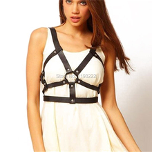 Sexy Punk Gothic Body Bodnage Bra Caged Bustier Corset Leather harness Sculpting Belt Straps