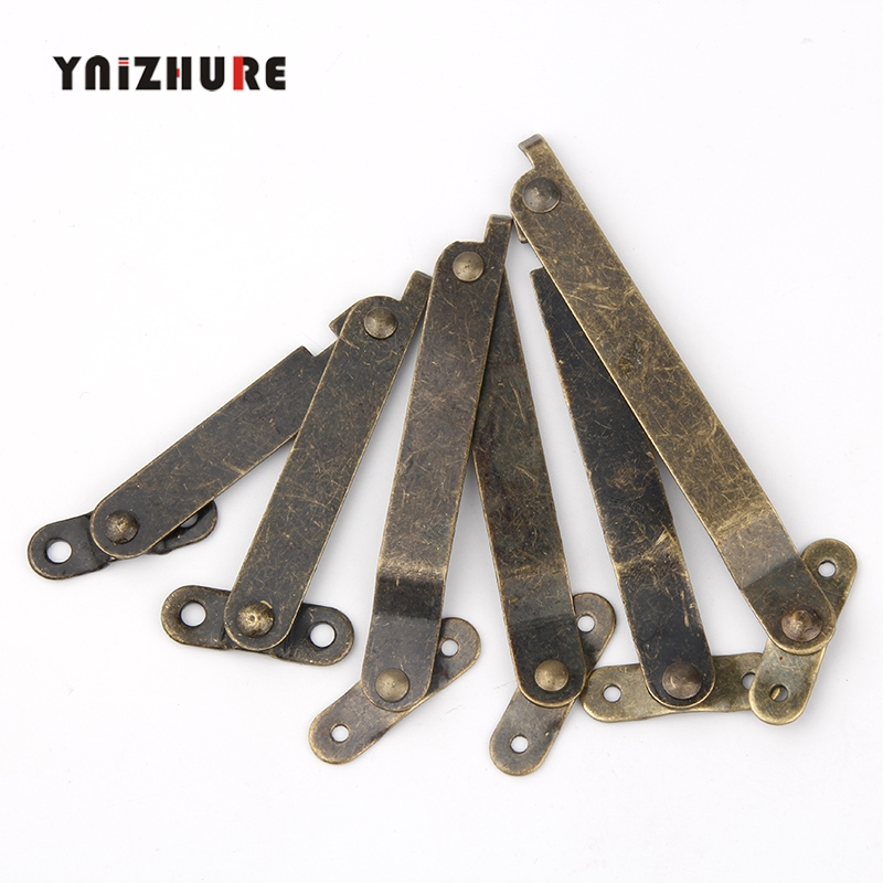 2PCS Antique Bronze Lid Support Hinges Stay For Box Display Furniture Accessories Cabinet Door Kitchen Cupboard Hinges Lid Stays2PCS Antique Bronze Lid Support Hinges Stay For Box Display Furniture Accessories Cabinet Door Kitchen Cupboard Hinges Lid Stays