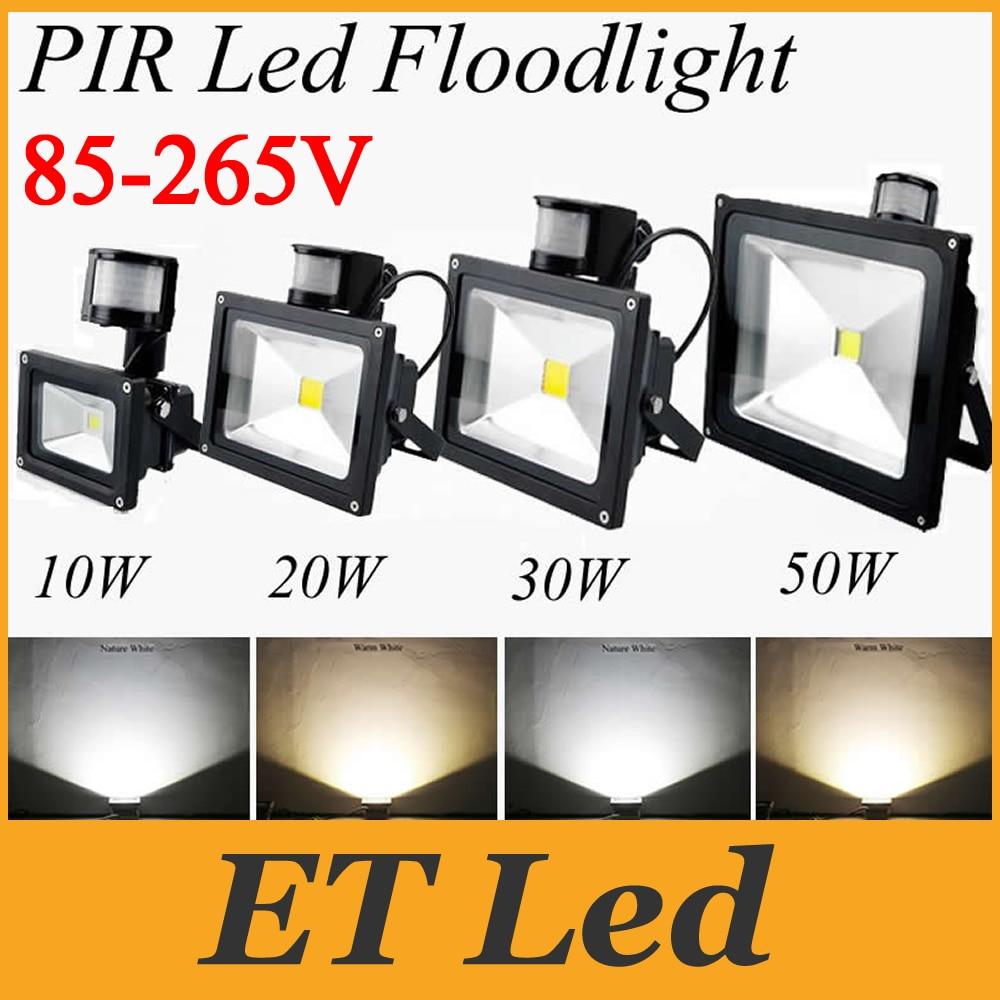Floodlights Ce&rohs Ul Saa 10w 20w 30w 50w 100w Pir Motion Led Flood Light Ip65 Spotlight Waterproof Outdoor Led Floodlight Lamp Ac 85-265v Lights & Lighting