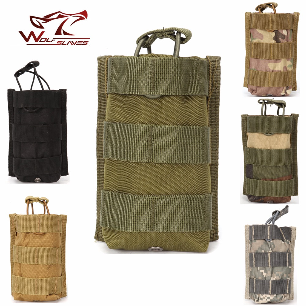 Military Vest Single Rifle <font><b>Magazine</b></font> Pouch MOLLE Open Top Tactical Mag Bag for <font><b>M4</b></font>/M16 5.56.223 Hunting Bag Airsoft Molle Pouch image
