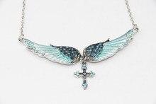 Женское ожерелье с подвеской в виде крыльев Ангела, рождественский подарок