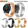22mm Watch Band Accessories Stainless Steel Quick Release Watch Bands Straps For Garmin Fenix 5 Tools