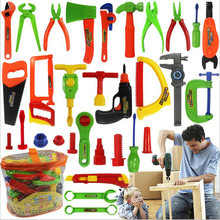 27Pcs Play Boy Toy Simulation Maintenance Kit Portable Toolbox Toys For Children Hobbies Action Toy Figures(China)