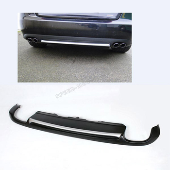 A5 Matt black painted PU Rear Bumper Diffuser for Audi A5 Coupe Standard Only 2008-2011 Non-Sline jc 20130709 1