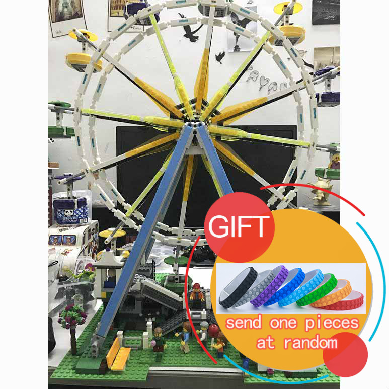 15012 City Expert Ferris Wheel Model Building Kits Assembling Block Compatible with 10247Toys lepin 2478pcs lepin 15012 city expert ferris wheel model building kits assembling block bricks compatible with 10247 educational toys