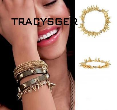 AB-sl0080/TRACYSGER /Sweet Girl / /custom Jewelry /Factory Supply /rivet Stretchy Bracelet
