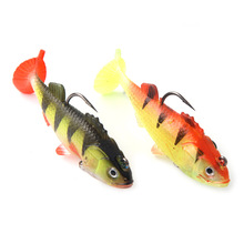 Package lead fish, t tail fish, leopard two colors 6.5cm9cm optional lure Sea fishing bionic soft fishing bait craig thomas sea leopard