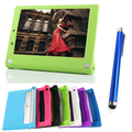 Moda caja de la tableta de 10.1 pulgadas Lenovo NUEVO Caliente Para Lenovo Tablet Yoga 2 1050 1050F funda de Silicona + stylus