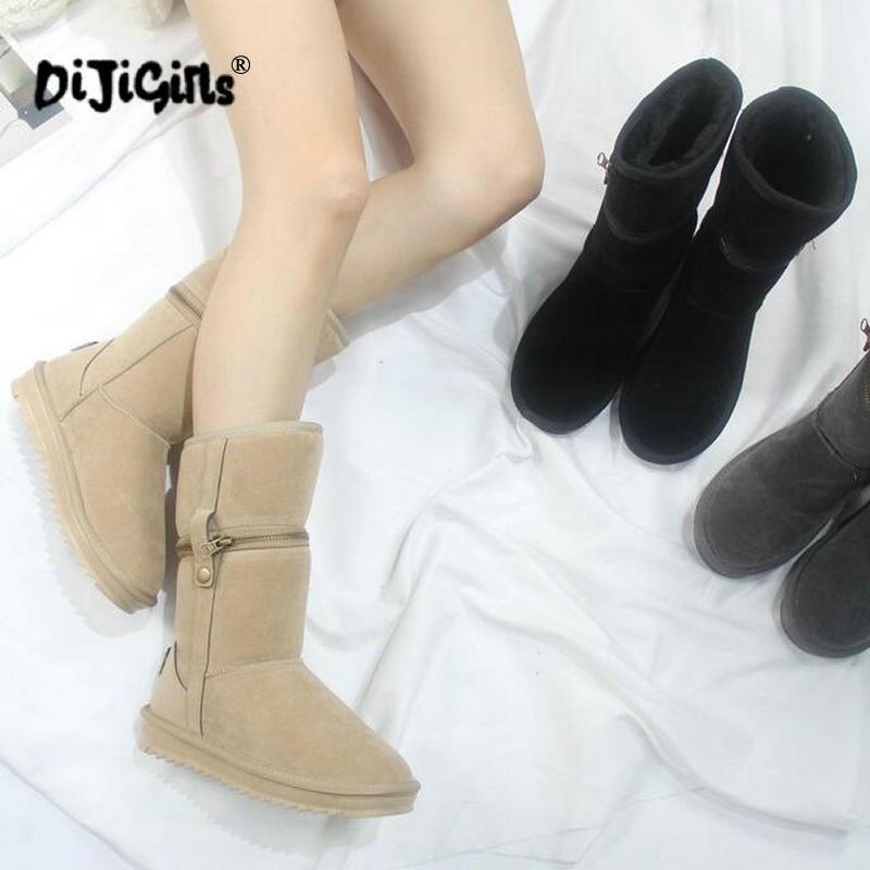 1aa8d2ca0 Botas Caliente Para Nieve Damas Classic Invierno black Mujeres Gota Las  Envío Zapatos beige Gray Mujer ...