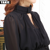 Brand Women Blouse 2017 Casual Women's Long Sleeved V neck sexy Shirt Plus Size Blouses Ladies Office OL Style Shirts Blusas