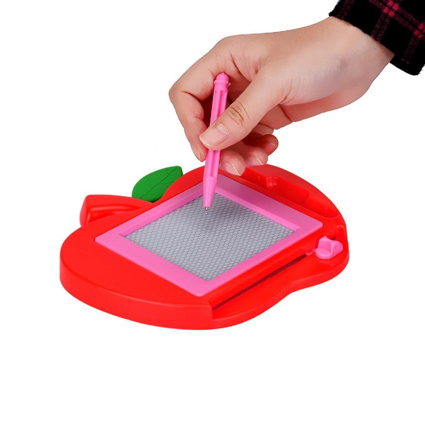 Малыш Пишущие Магнитные Живопись Чертежной Доске Apple Стиль Граффити Игрушки для Детей Обучение и Образование Рисунок Игрушки Krystal