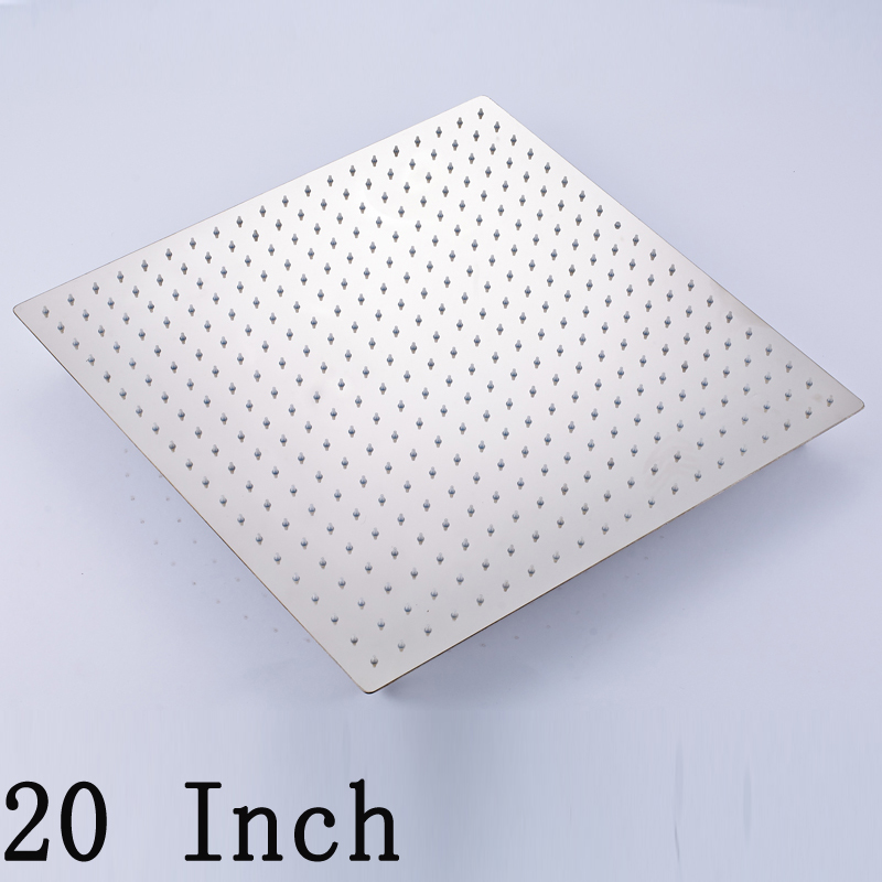 Wholesale And Retail Solid Brass Chrome Bathroom Shower Head 20 Inch Square Rainfall Shower Head