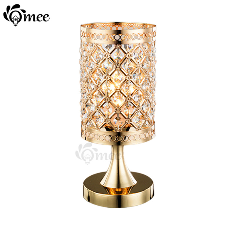 buy modern small crystal table lamps brief bedroom bedside desk lamp. Black Bedroom Furniture Sets. Home Design Ideas