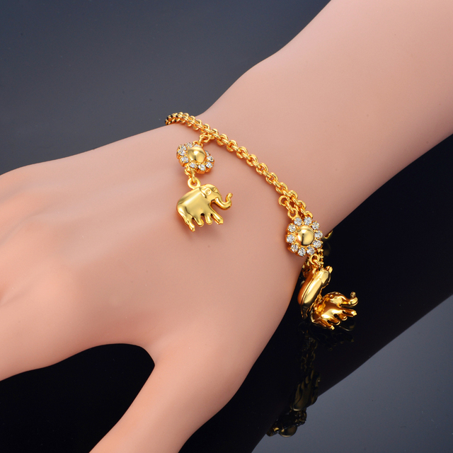 Elephant Bracelet For Women Fashion Jewelry Gold Color Bracelets Bangles Whole European Charm