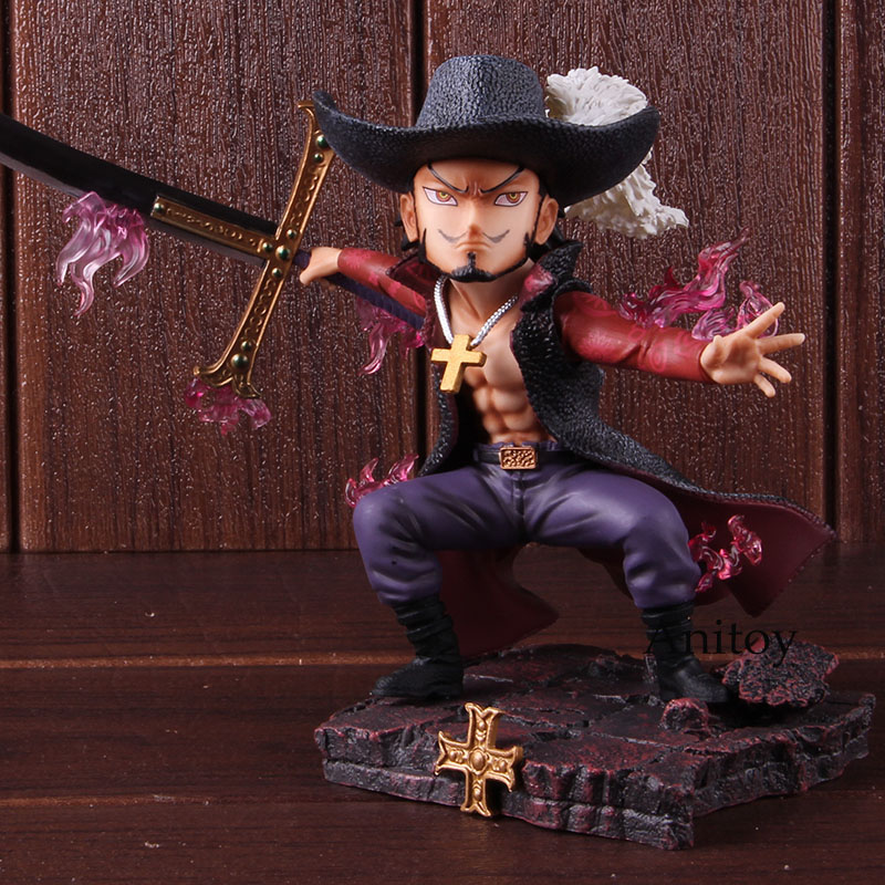 Anime One Piece GK Dracule Mihawk Battle Ver. PVC One Piece Mihawk Figure Collectible Model Toy 1
