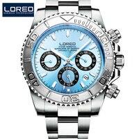 Relojes de buceo de 200M para hombres  reloj mecánico de acero completo de alta marca  reloj deportivo impermeable automático para hombres  relojes Montre Homme