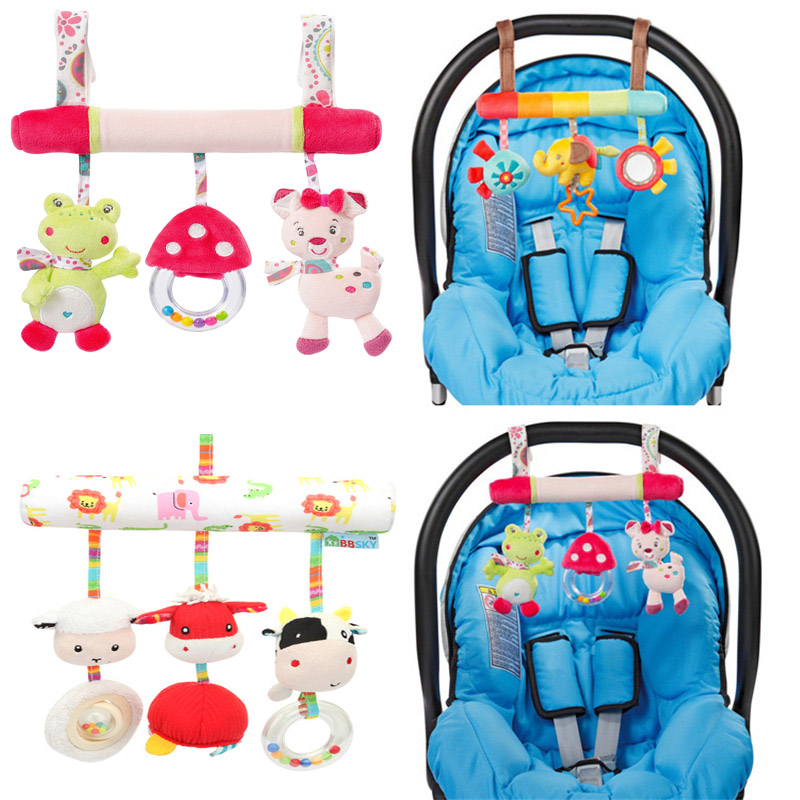 Baby Stroller Accessories Baby Toys Infant Animal Crib\/Car\/Bed\/Pram Rattles Toys Baby Mobile
