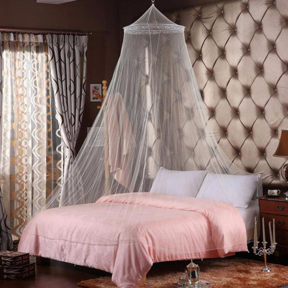 Excellent Elegant Round Lace Mosquito Nets Bed Canopy