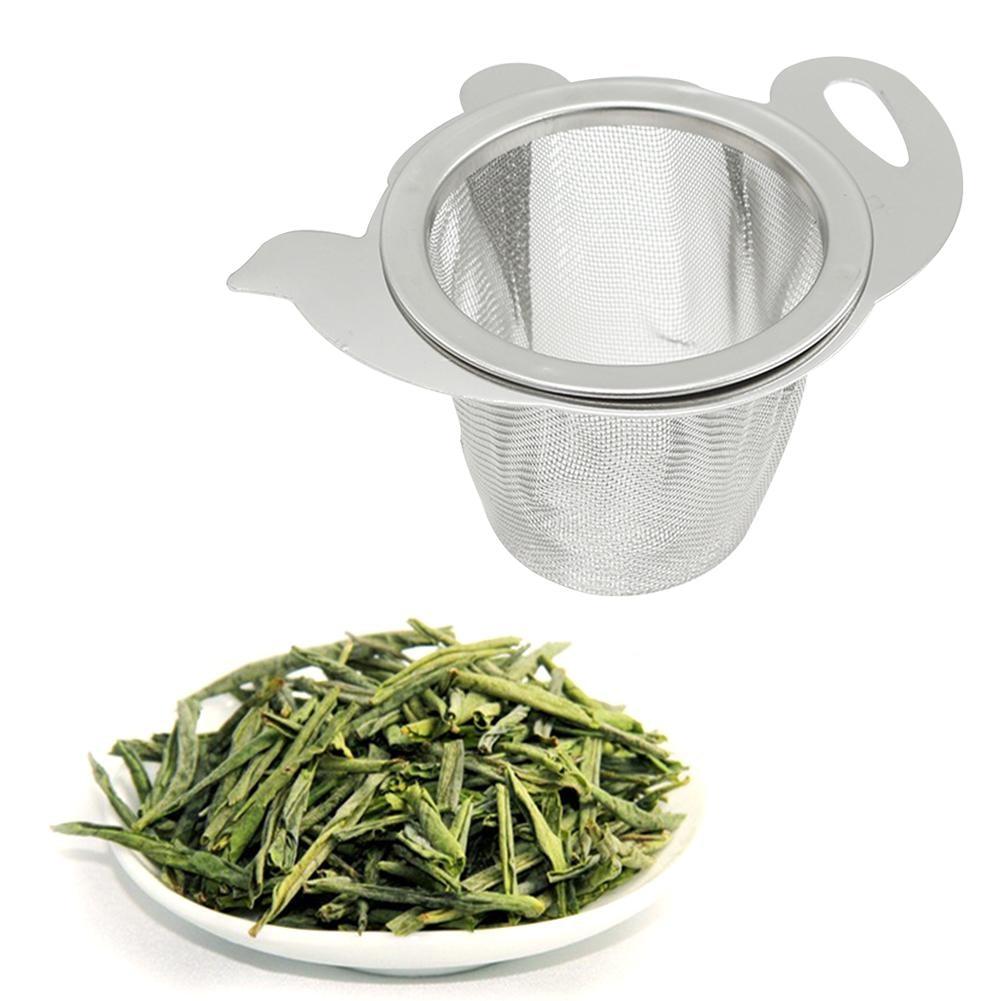 New Arrival 1PC Stainless Steel Teapot Drain Strainer Binaural Tea Filter Brewing Tools Coffee Leak Maker #T