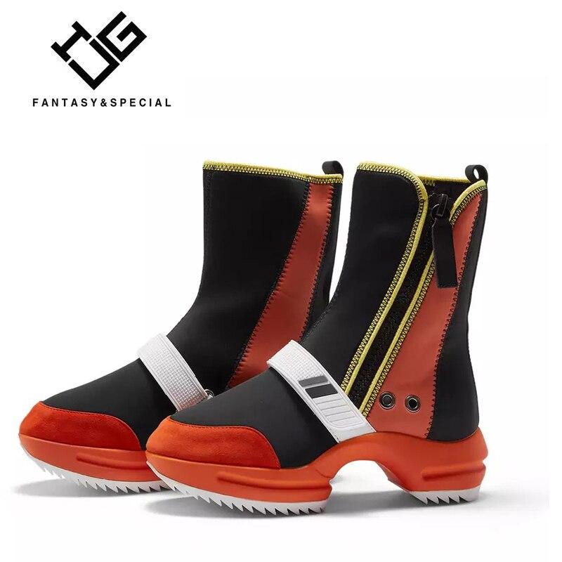 UGI Hiver Chaussures Femmes Martin Bottes Hip Hop Pour Les Femmes Rouge Botas Femininas De Inverno Dame Bottes Non-slip bottes Chaudes et imperméables