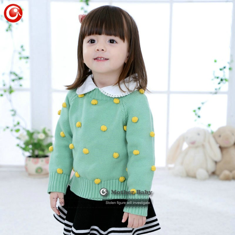 Kids Tinny Cotton Boys Sweater Children Pullover Cardigan Coat For Girls Baby Long Sleeve Knitwear Christmas Clothes With Balls (5)
