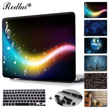 Redlai Music Note Print Plastic Hard Case Cover For Macbook 12″ Air Pro Retina 11 13 15 inch Laptop Case with Keyboard Cover