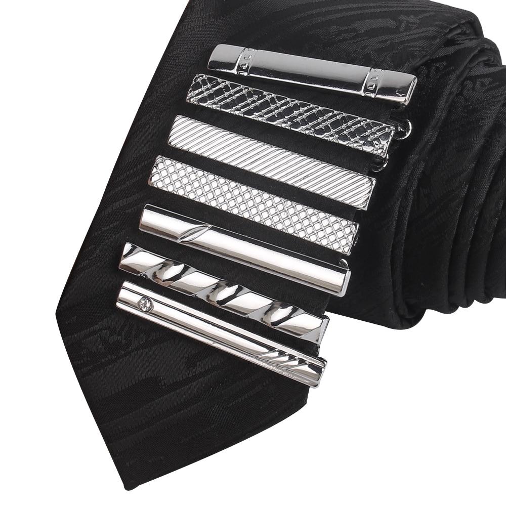 Tie Pin For Men Classic Meter Tie Clips Copper Tie Bar Quality Enamel Tie Collar Pin Crystal Business Corbata Necktie Clip