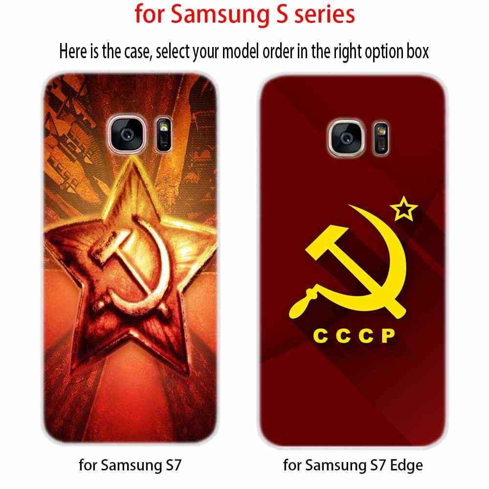Silicone Mềm Dành Cho Samsung S20 S11 S10 S9 S8 Plus Lite 11e 10e S7 S6 Plus 5G nga Chủ Nghĩa Cộng Sản
