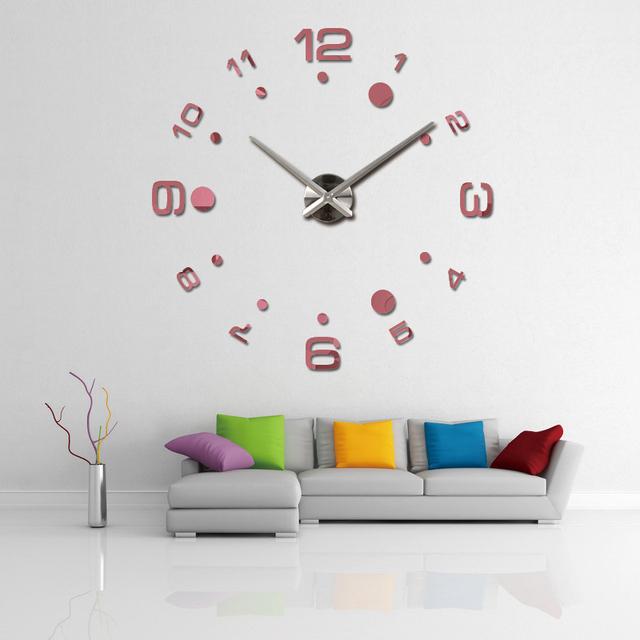 2016 new wall clock diy clocks reloj de pared quartz watch europe living room large decorative horloge murale watches stickers
