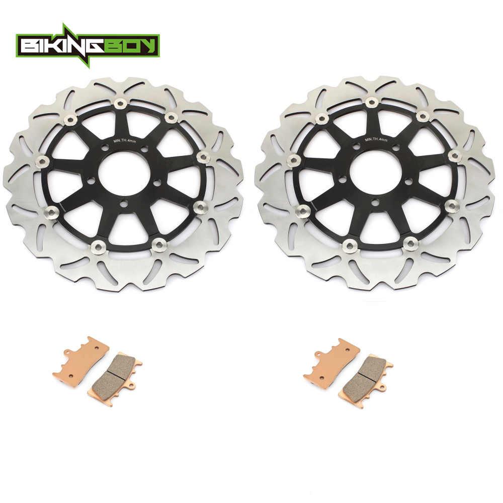 BIKINGBOY для SUZUKI GSXR 750 96-99 GSXR 1000 01-02 GSX 1300 R Hayabusa 99-07 TL1000R 98-03 передние тормозные диски роторы колодки