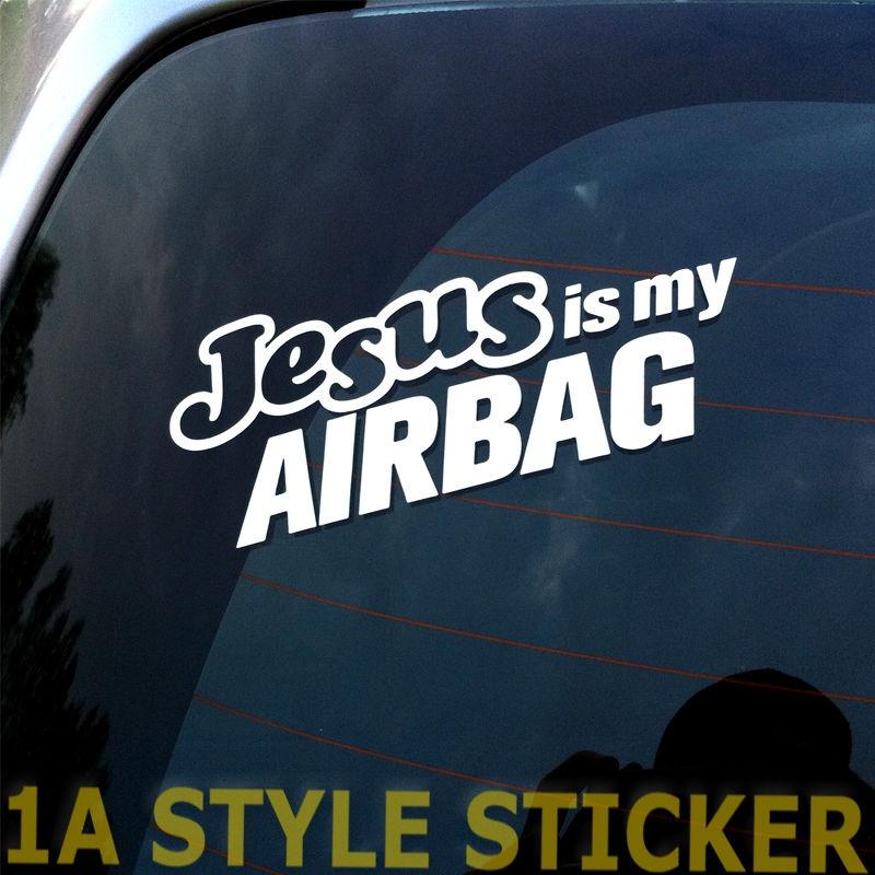 Car Styling For Jesus Is My Airbag Sticker Aufkleber Shocker