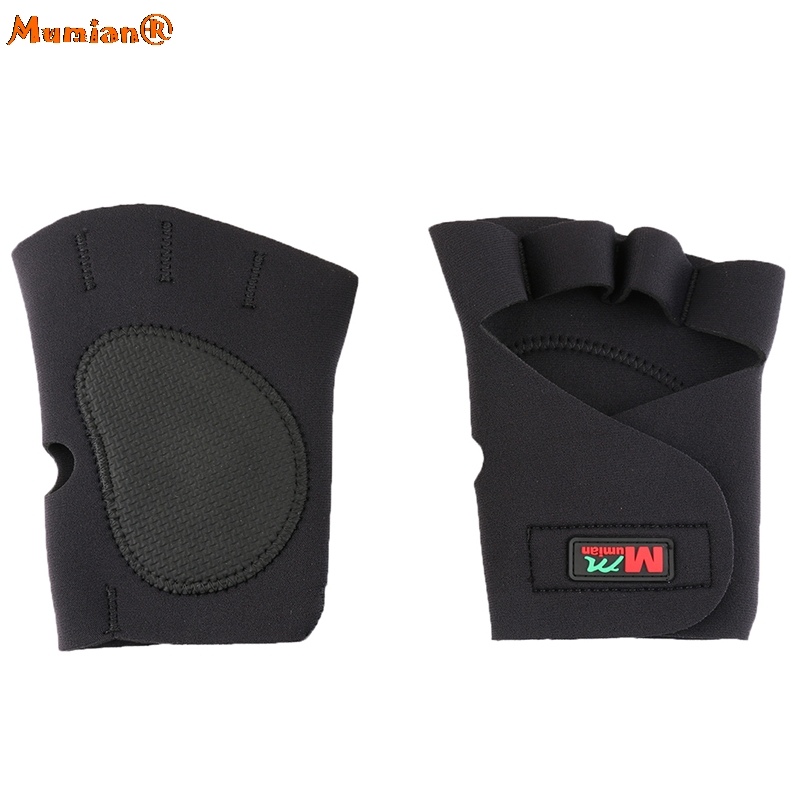 1 Pair Sports Fitness Cycling Hand Finger Brace Support Wrap Black Gloves Sport Gloves Hasp Wrist Support