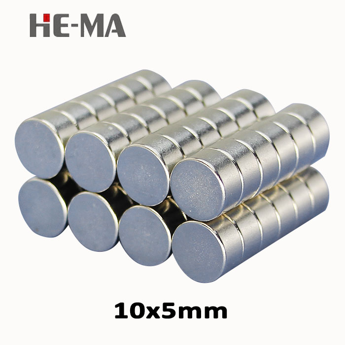 20Pcs 10x5 Neodymium Magnet Permanent N35 NdFeB Super Strong Powerful Magnetic Small Magnets HE-MA Disc 10mmx5mm